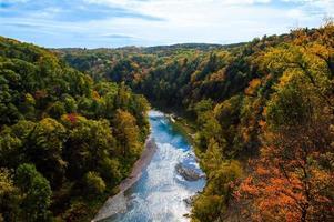 letchworth state park på hösten foto