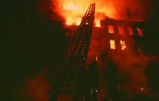 brandkatastrof i New York City foto