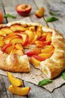 galett med persikor