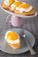 stekt äggkakor foto