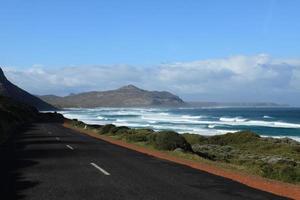 die landschaft beim kap der guten hoffnung i südafrika