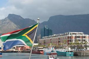 sydafrikanska flaggan Cape Town foto