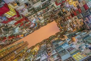 gammal lägenhet i Hong Kong foto