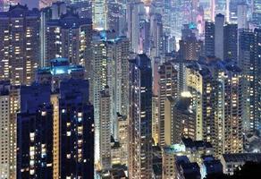 hong kong ö - skyskrapa foto