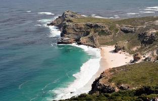 panorama över udden på det goda hopp Sydafrika foto