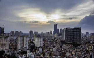 hanoi utsikt från himlen foto
