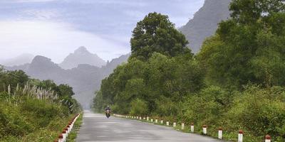 vacker tropisk väg foto