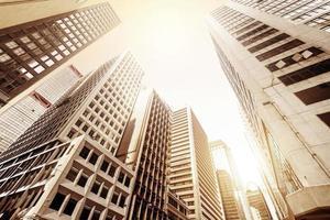 hong kongs skyskrapor foto