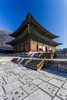 traditionell koreansk stilarkitektur i Seoul, Sydkorea. foto