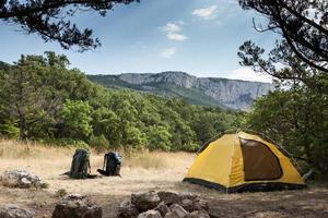 ryggsäckar och camping foto