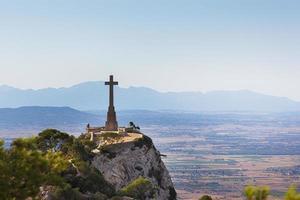 utsikt från berget Sant Salvador, Mallorca foto