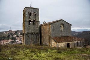 salvador kyrka, sepulveda, spanien. foto