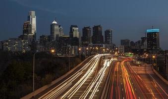 Philadelphia på natten foto