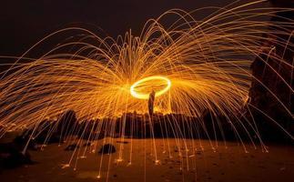 fotografi av stålull foto
