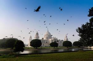 victoria memorial, kolkata, Indien - historiskt monument. foto