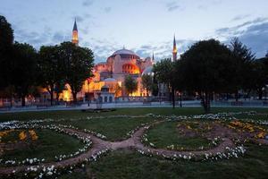 st. sophia (hagia sophia) kyrka, moské och miseum i istanbul foto