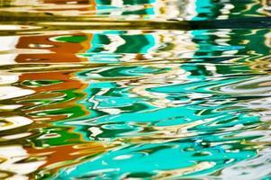 reflektion i vatten foto