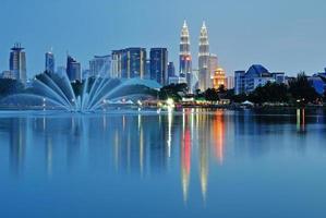 Kuala Lumpur skyline nattlandskap foto