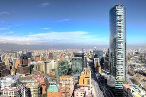 fantastiska flygfoto från staden foto