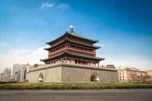 xian klocktorn från den antika staden foto