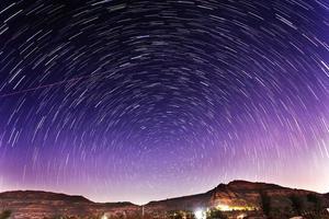 när stjärnor roterar .. foto