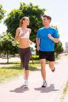 jogga tillsammans. foto