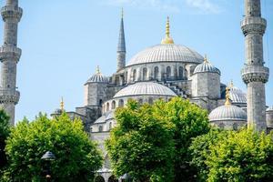 blå moské i istanbul foto