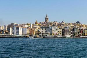 de gamla gatorna och husen i Istanbul, Turkiet