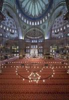 intern vy av blå moské, sultanahmet, istanbul foto