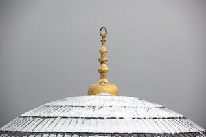 kupol med snö