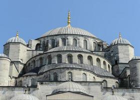 blå moské i istanbul kalkon foto