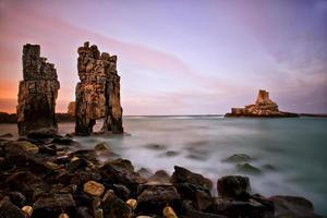 sten och lång exponering foto