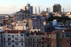utsikt över istanbul från galatorn foto