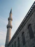 blå moské foto