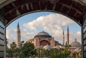 hagia sophia från blå moské foto