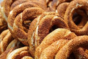 turkisk bagel, simit foto