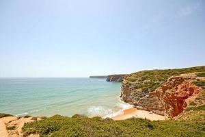 Praia do beliche, strand nära cabo sao vicente, portugal i algarve