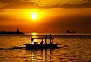 Filippinerna, Manila Bay solnedgång foto
