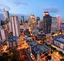 makati skyline (manila - Filippinerna) foto