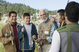 familj av fiskare foto