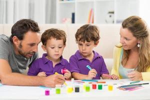 familjemålning foto