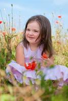 barn flicka foto