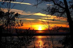 hösten solnedgång foto