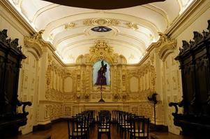 inuti den gamla katedralen, Rio de Janeiro, Brasilien foto