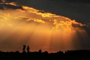 vår solnedgång foto
