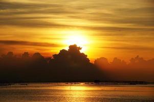 solnedgång himmel