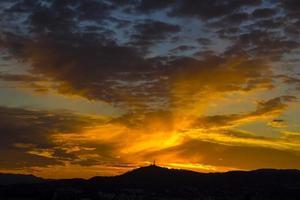 barcelona solnedgång foto