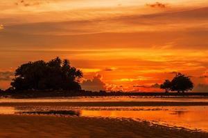 solnedgång ebb foto