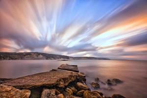 havssolnedgång .. foto