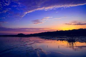 fantastisk solnedgång foto